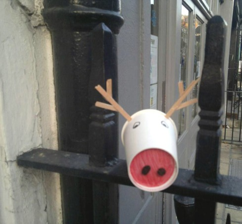 Rudolf the red nosed coffee cup